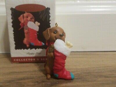 Hallmark 1996 Puppy Love 6th in series Ornament Dachshund