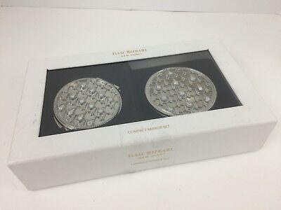 Isaac Mizrahi New York Compact Mirror Set Make-up Cosmetic Box