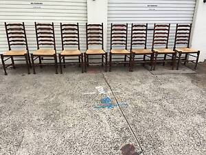 Set of 8 Ladderback chairs Rushcutters Bay Inner Sydney Preview