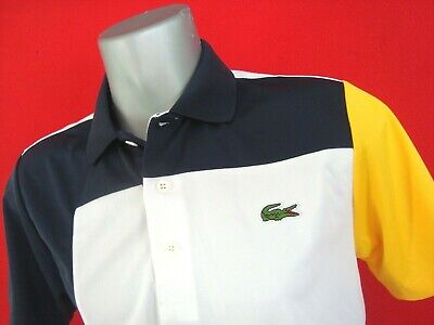 Lacoste SPORT Navy/White Men's Tech Pique Knit Polo Shirt NWT Size S for sale  Shipping to India