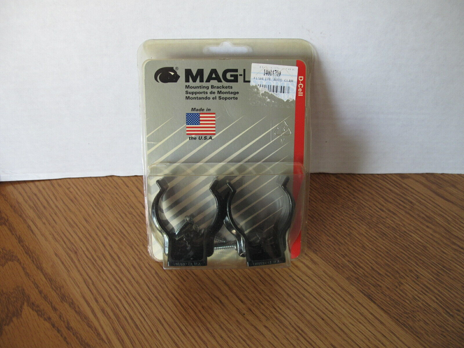 Vintage MagLite Mag Lite D-Cell Flashlight Mounting Brackets