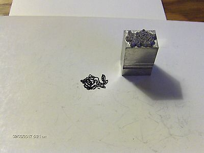 Antiquevintage Letterpress Metal Print Block 1 Rose Flower New From 1990