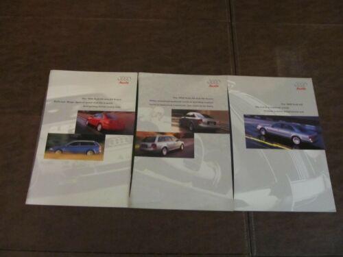 Vintage 1999 AUDI Dealer Brochure Lot of 3~A4 & A4 AVANT/A6 & A6 AVANT/A8