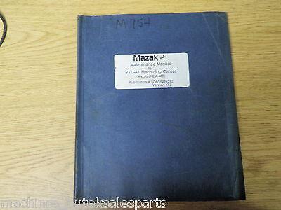 Mazak Maintenance Manual Vtc-41 Machining Centermazatrol Eia-mbtoec8439350
