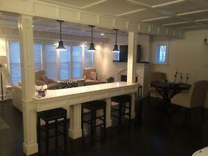 EXECUTIVE fully furnished custom built 7 bedroom 3 bath home