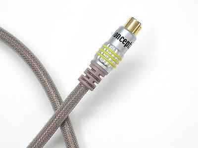 KnuKonceptz Double Shielded OFC S-Video SVideo Cable Gold Plated 8' 4 Pin 2.5M