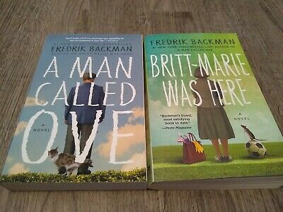 A Man Called Ove - Britt-Marie Was Here by Fredrik Backman 2 Paperback Books Lot
