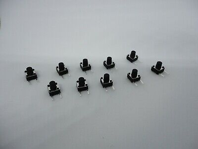 10 Pcs Pack Lot 6x6x7mm Momentary Push Micro Button Tactile Switch Side 2 Pins