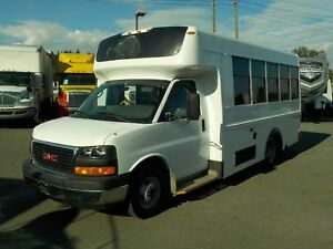 2009 GMC Savana G3500 13 Passenger Bus Diesel with Seatbelts and