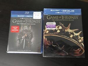 Game of Thrones Seasons 1 and 2 - bluray sealed