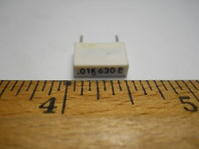 .01 Mfd 630 Vdc Polyester Capacitor Nos New Old Stockqty 10 Ead76