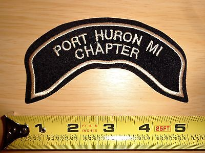 Hog Port Huron Mi Michigan Small Rocker Patch Harley Davidson Owners Group Flhr