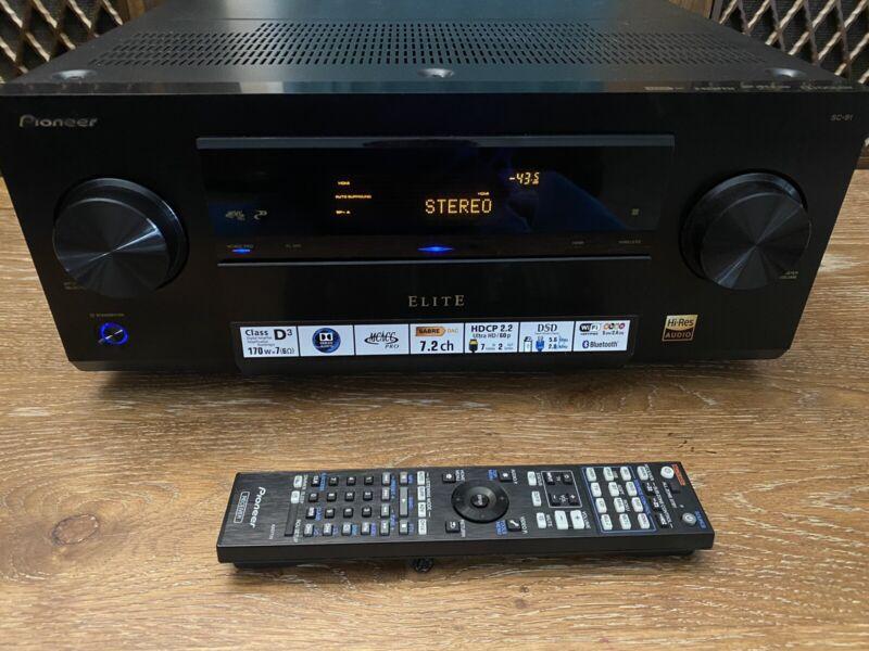 Pioneer Elite SC-91 7.2 Channel Elite 4k AV Receiver Working & Tested