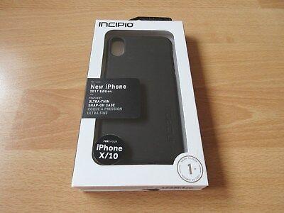 Incipio Iphone Case (INCIPIO Ultra Thin Snap On Case Hülle für iPhone X schwarz top Zustand!!)