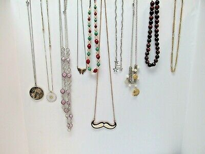 Lot of 10 Costume Necklaces, Steampunk & More, Great Variety, Great Value 73x
