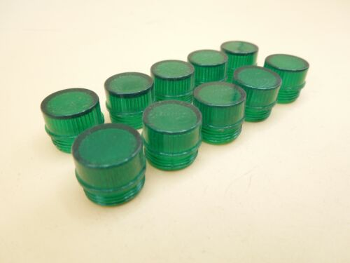 Panel Mount Incandescent Indication Signal Pilot Light Green Cover (Lot of 10)