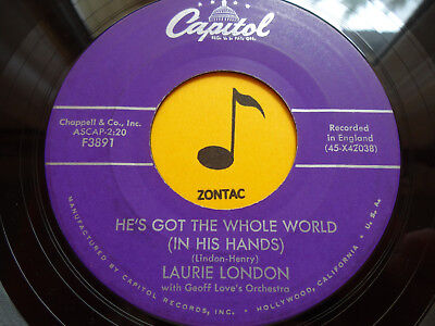 LAURIE LONDON ~He's Got The Whole World(In His Hands) ~ 45's record ~ 1958 - He Got The Whole World