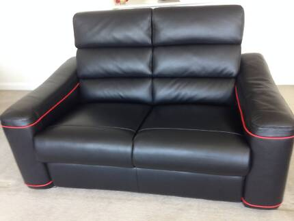 Leather 2 piece Recliner Lounge Suite