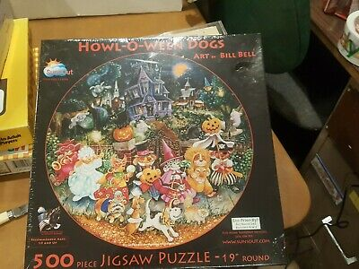 Howl O Ween Dogs in Halloween Costumes - 500 Pc Puzzle - Sealed - Puzzle Halloween Costume