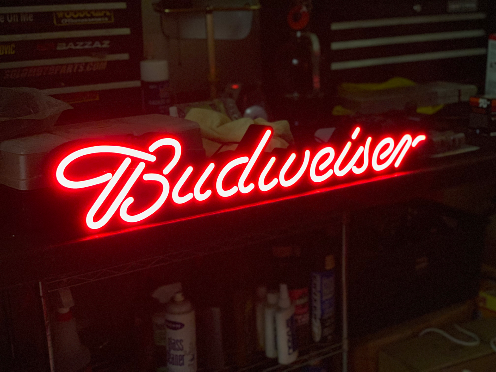 30 in BUDWEISER BUD LIGHT NEON LOOK LED BEER SIGN FOR GARAGE