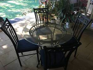 Round glass top 4-seater dining table Eight Mile Plains Brisbane South West Preview