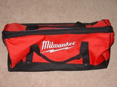"New Large Milwaukee Heavy Duty Duffel Tool Bag 22""L X 10.5""W X 12""H W/ Strap"