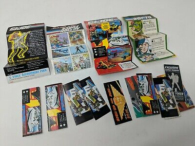 VINTAGE ACTION FORCE / G.I. JOE LEAFLETS, PROMO PAPERWORK, SUPER TROOPER TOKEN!