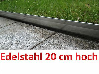 Rasenkanten Edelstahl Beeteinfassung Beetumrandung Mähkante Rasenkante Nirosta