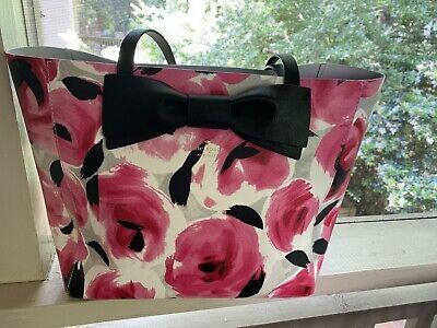 Kate Spade Pink Floral Handbag With Bow