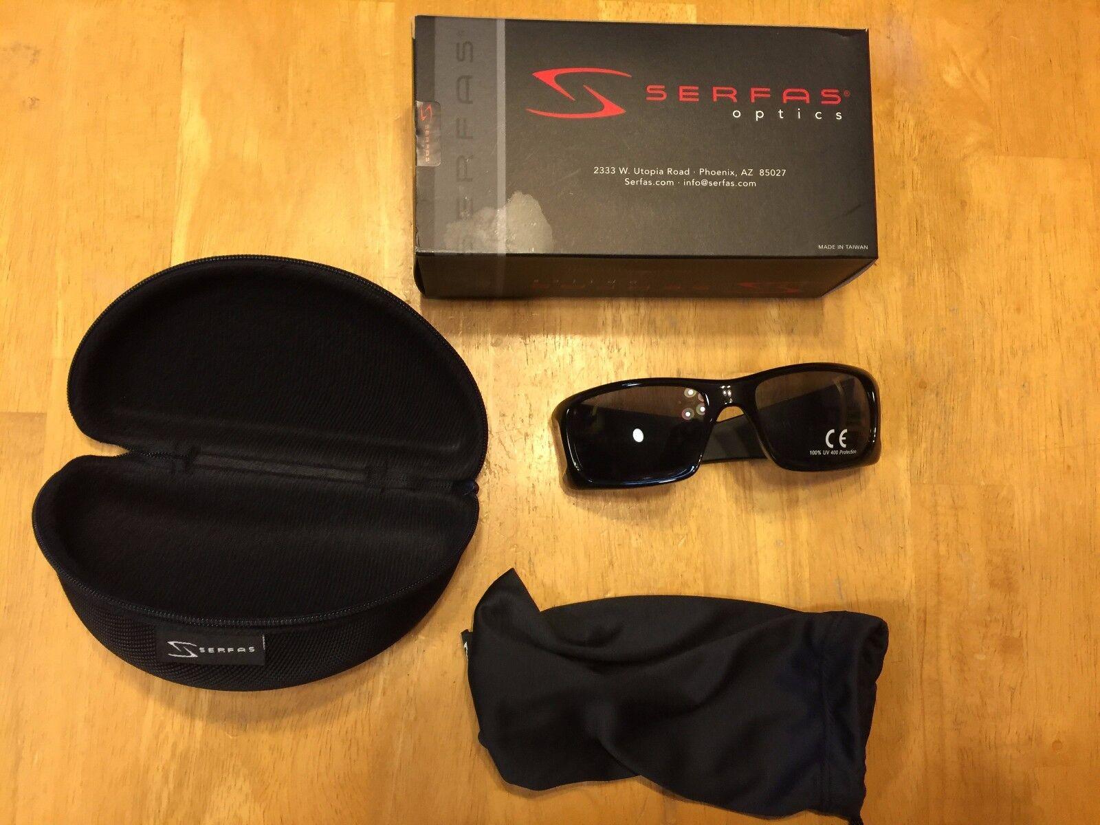 New Serfas Optics Mash Sunglasses with Case 100% UV - Biking
