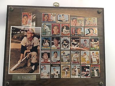 AL KALINE PLAQUE- PLAYING DAYS CARDS, EXHIBIT CARD, THICK WALL PLAQUE