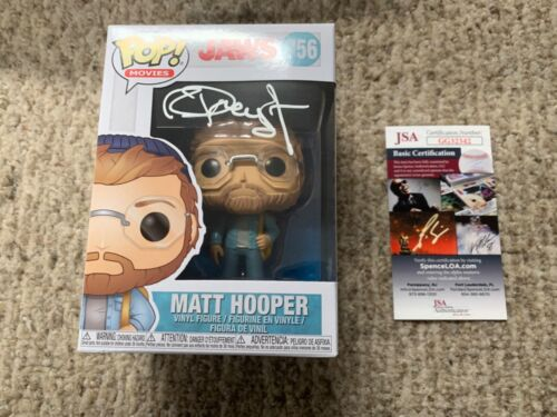 "Funko Pop Signed Richard Dreyfuss ""Matt Hooper"" Jaws Autograph JSA Inscription"