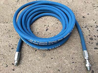 25ft 38 4000psi Blue Non-marking Pressure Washer Hose Flexible New