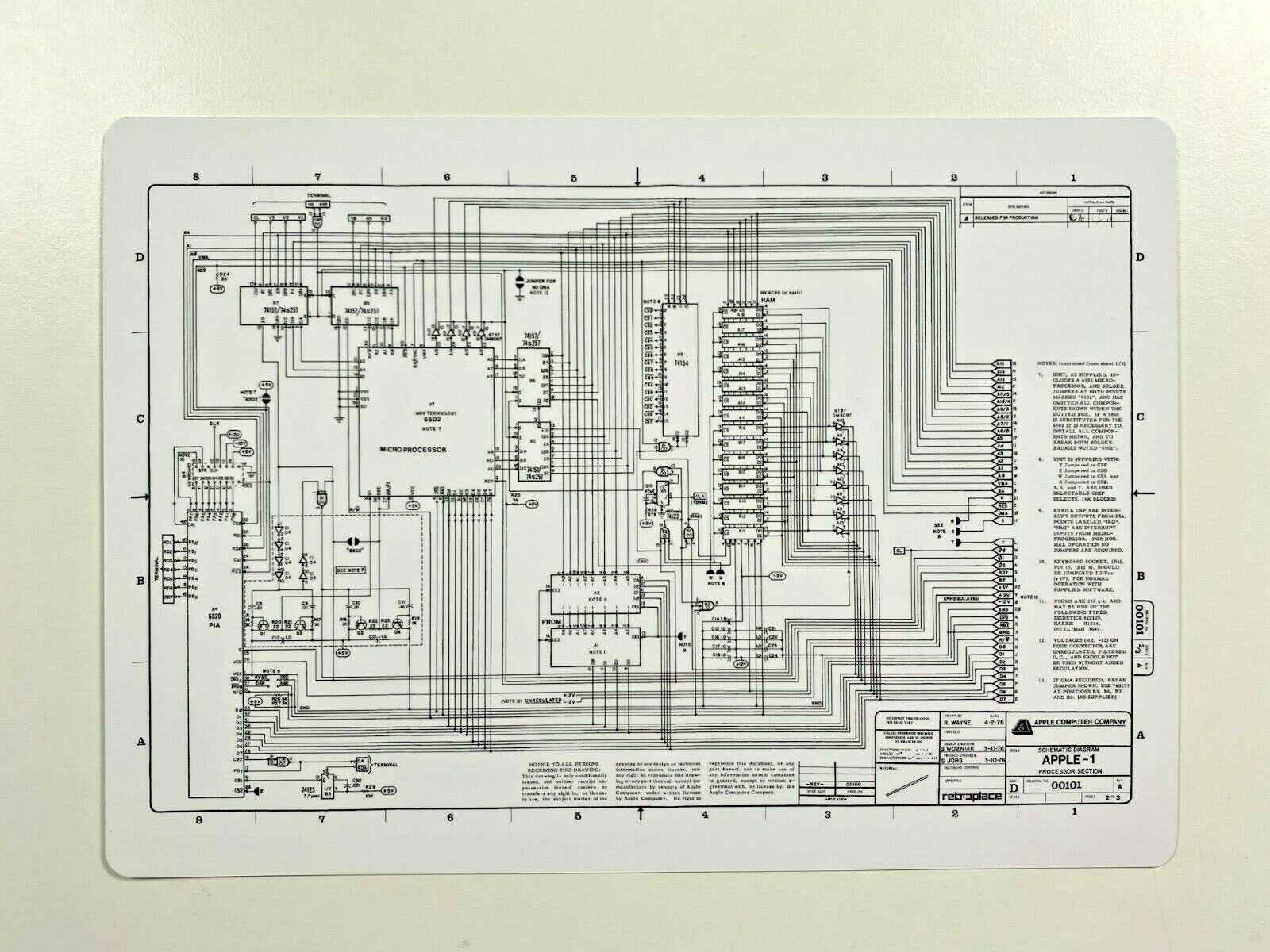  Apple-1 Computer Replica Motherboard PCB – Retro …