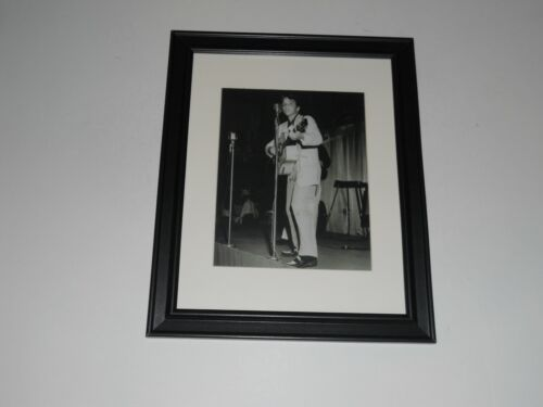 """Large Framed Elvis Presley on Stage 1955 Early King of Rock n Roll 24"""" x 20"""""""