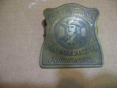 PHILADELPHIA PENNSYLVANIA FIRE INSURANCE CO PAPER CLIP SIGN