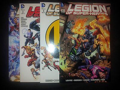 LEGION OF SUPER-HEROES (deutsch) # 1+2+3+4 - DAS NEUE DC-UNIVERSUM - PANINI  TOP