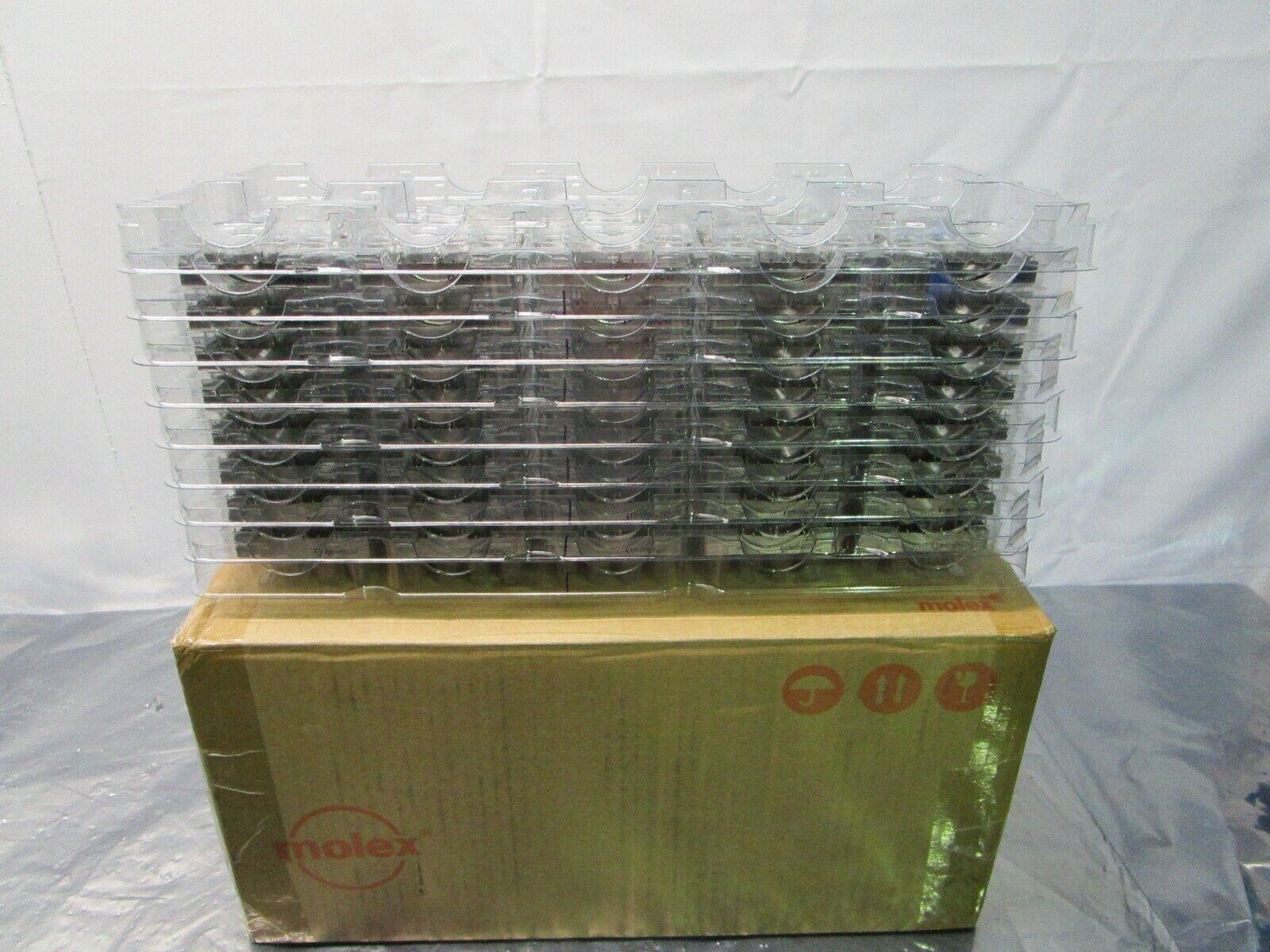 1 Lot of 80 Molex 0747540420 1X4 SFP+ GangedCage forL/P w/PressFit, 102049