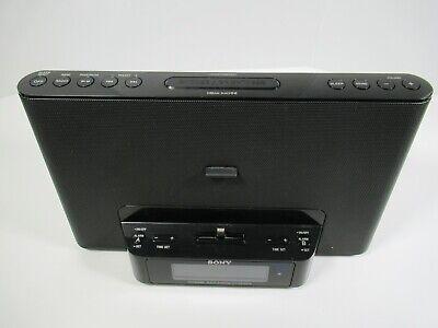 Sony iPhone iPod Dock Dual Alarm Clock Radio ICF-CS15IPN In Box Remote Tested