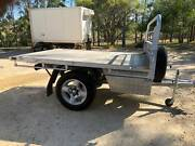 Flatbed trailer - aluminium body, under body storage boxes Singleton Singleton Area Preview
