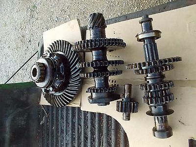 Farmall C Tractor Ih Transmission Matched Set Upper Lower Gears Shaft Pinion R