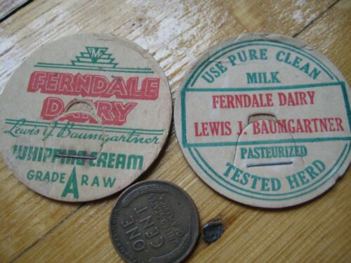 2 Lewis J. Baumgartner Ferndale milk cap,maverick,caps,lids,WhippingCream Tested