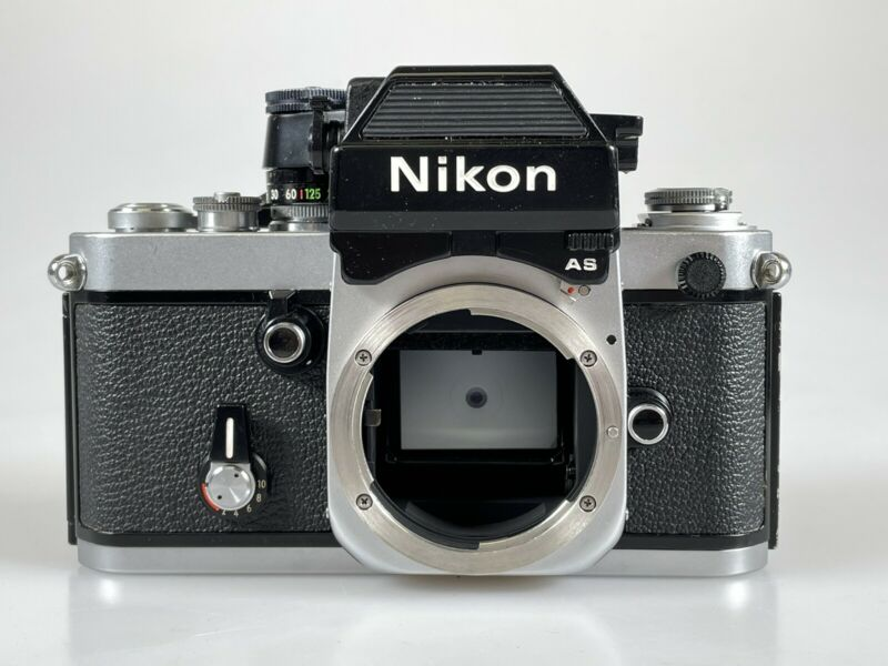 Nikon F2 AS Chrome SLR Film Camera DP-12 Body
