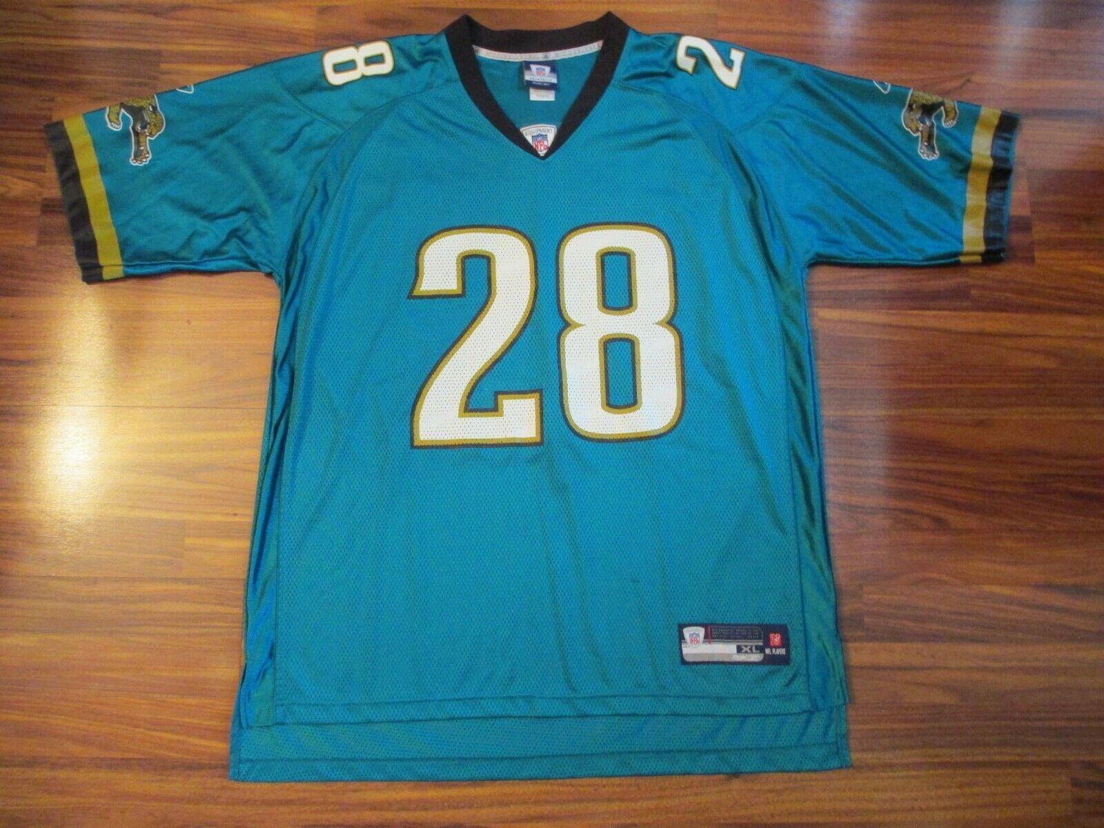 Reebok Jacksonville Jaguars FRED TAYLOR #28 Teal Jersey - XL