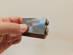 VINTAGE OLD 60s MICRONIC RUBY ANTIQUE MID CENTURY MICRO TRANSISTOR RADIO, WORKS