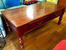 Large mahogany coffee table with 2 drawers Sandy Bay Hobart City Preview