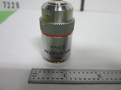 Microscope Objective Leitz Germany Fluotar 6.3x Optics As Is Binr6-15