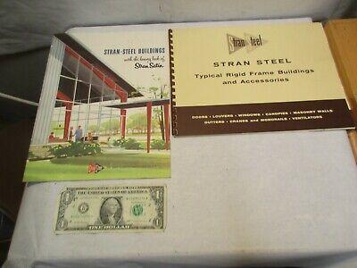 2 - 1950s Stran Steel Buildings Stran Satin Rigid Frame Brochures Good Shape