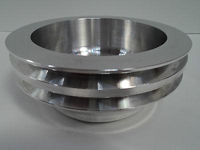 SB Chevy Aluminum Crankshaft Pulley 2 Groove LWP Long Water Pump SBC 350 Crank