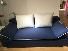 Chloe fabric sofa bed in denim colour with storage space Homebush West Strathfield Area Preview